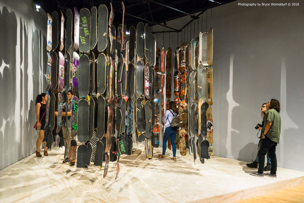 "Zakriya Rabani's piece ""Divine Decks"" in the USF Contemporary Art Museum"