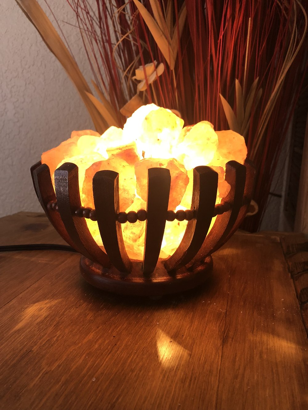 Himalayan Salt Lamp (Chunk Basket)