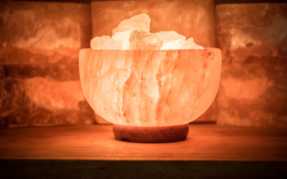 Himalayan Salt Lamp (Fire and Ice Bowl)