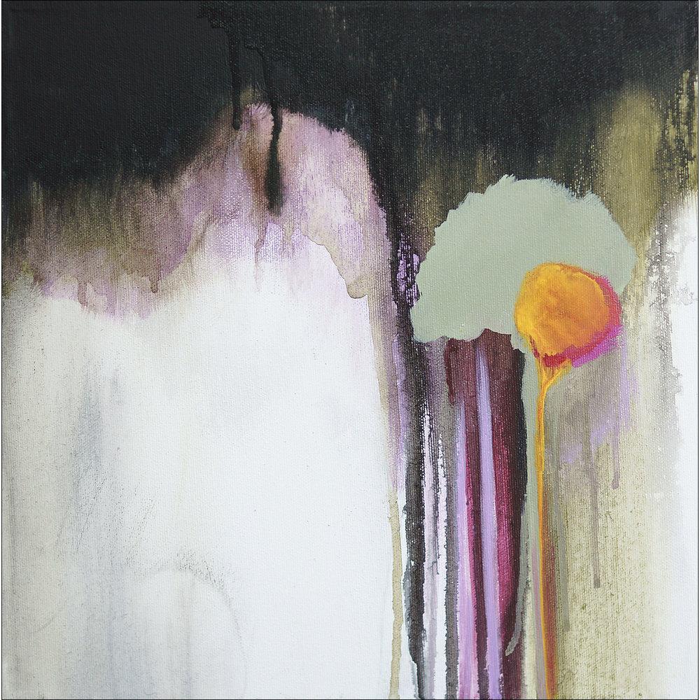 258  | 30 cm x 30 cm – 12″ x 12″ | Acrylic, spray paint, India ink on canvas