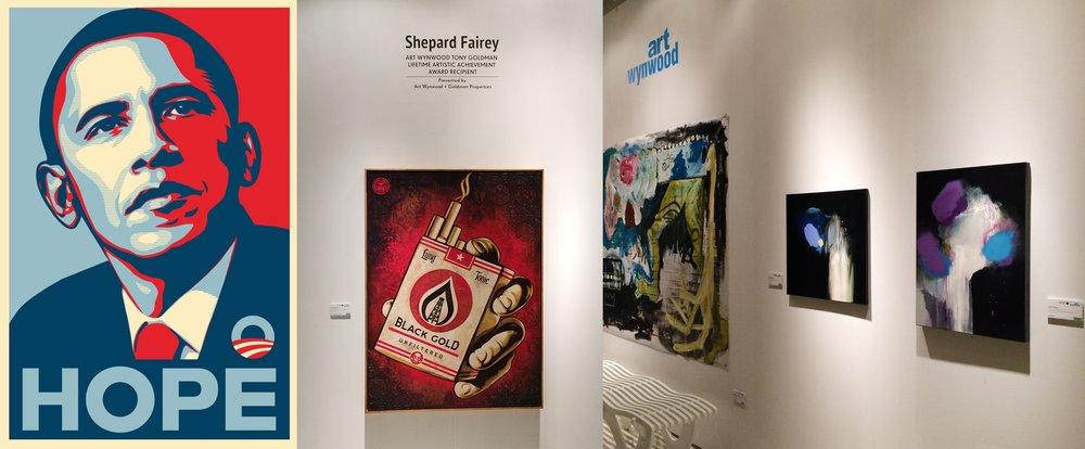 In good company with Shephard Fairey (Obey Giant) & David Ramirez Gomez