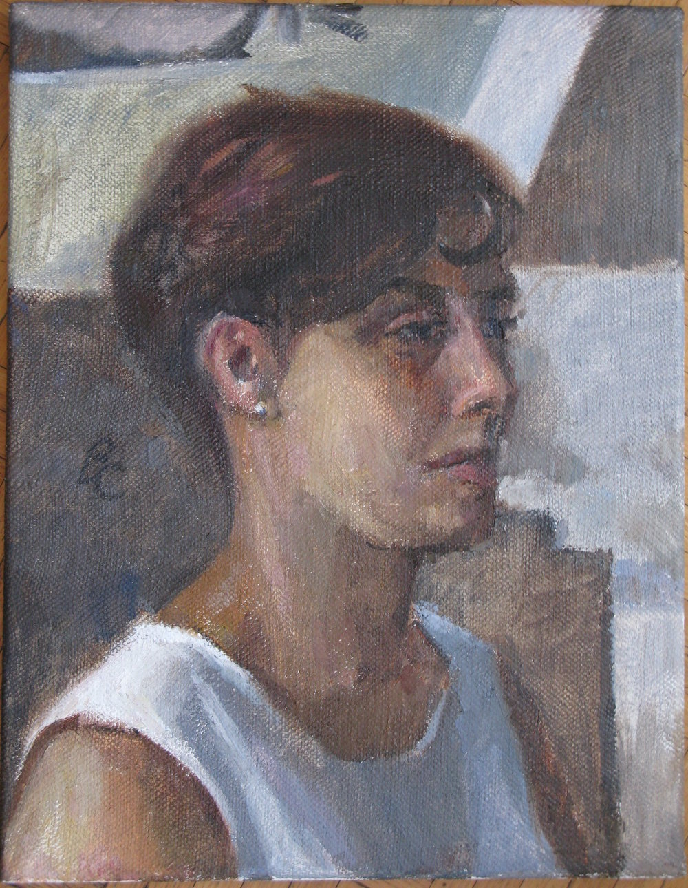 "Imene, 18"" x 14"", oil on linen"