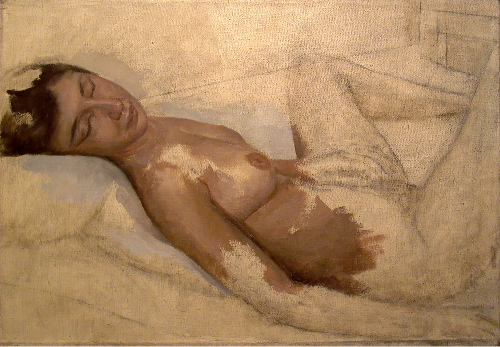 "Nude Study, 22"" x 30"", oil on linen"