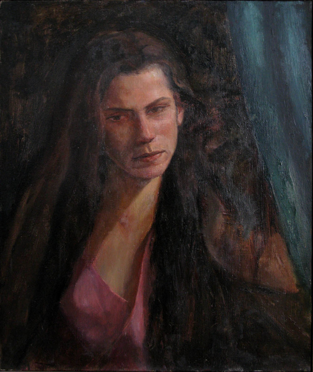 "Portrait Study, 24"" x 20"", oil on linen"