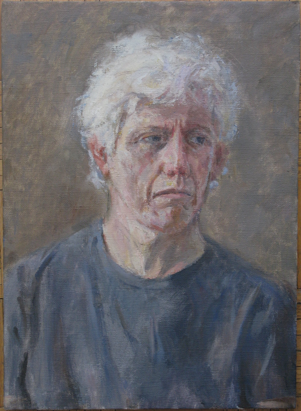 "Robert Bunkin, Painter, 22"" x 16"", oil on linen"