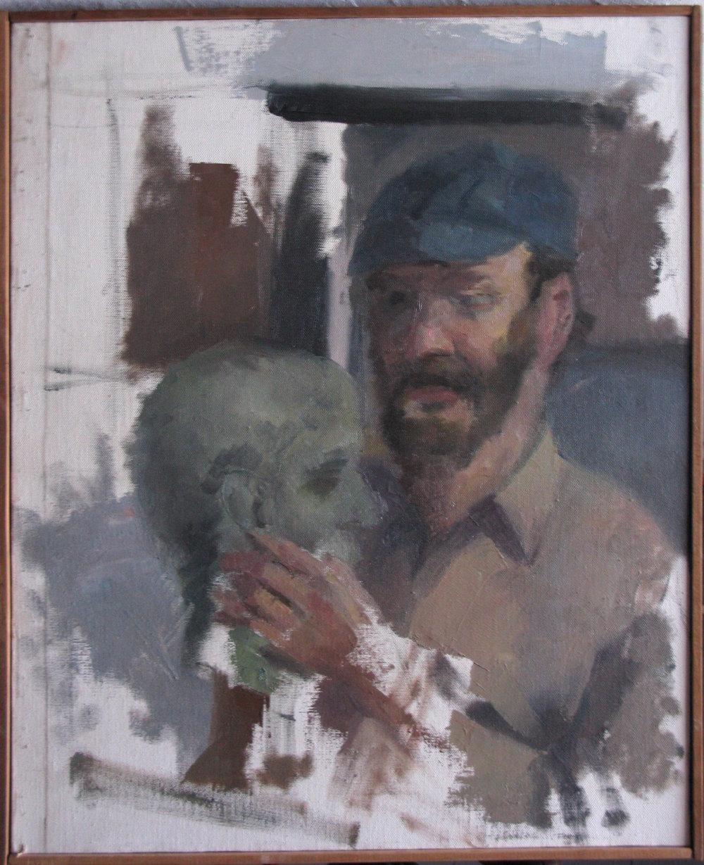 """Robert Feinland, Sculptor, 20 x 24"""""""