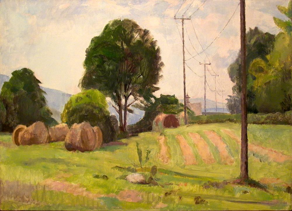 """Palmer's Field, 20"""" x 28"""", oil on linen"""