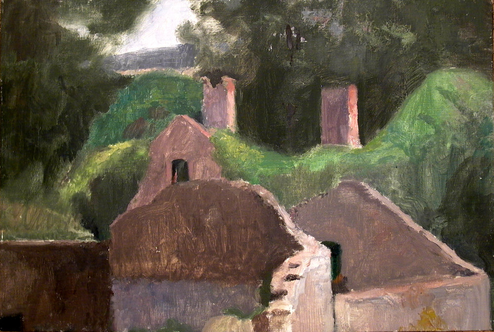 "Rochefort Ruins, 12"" x 18"", oil on linen"