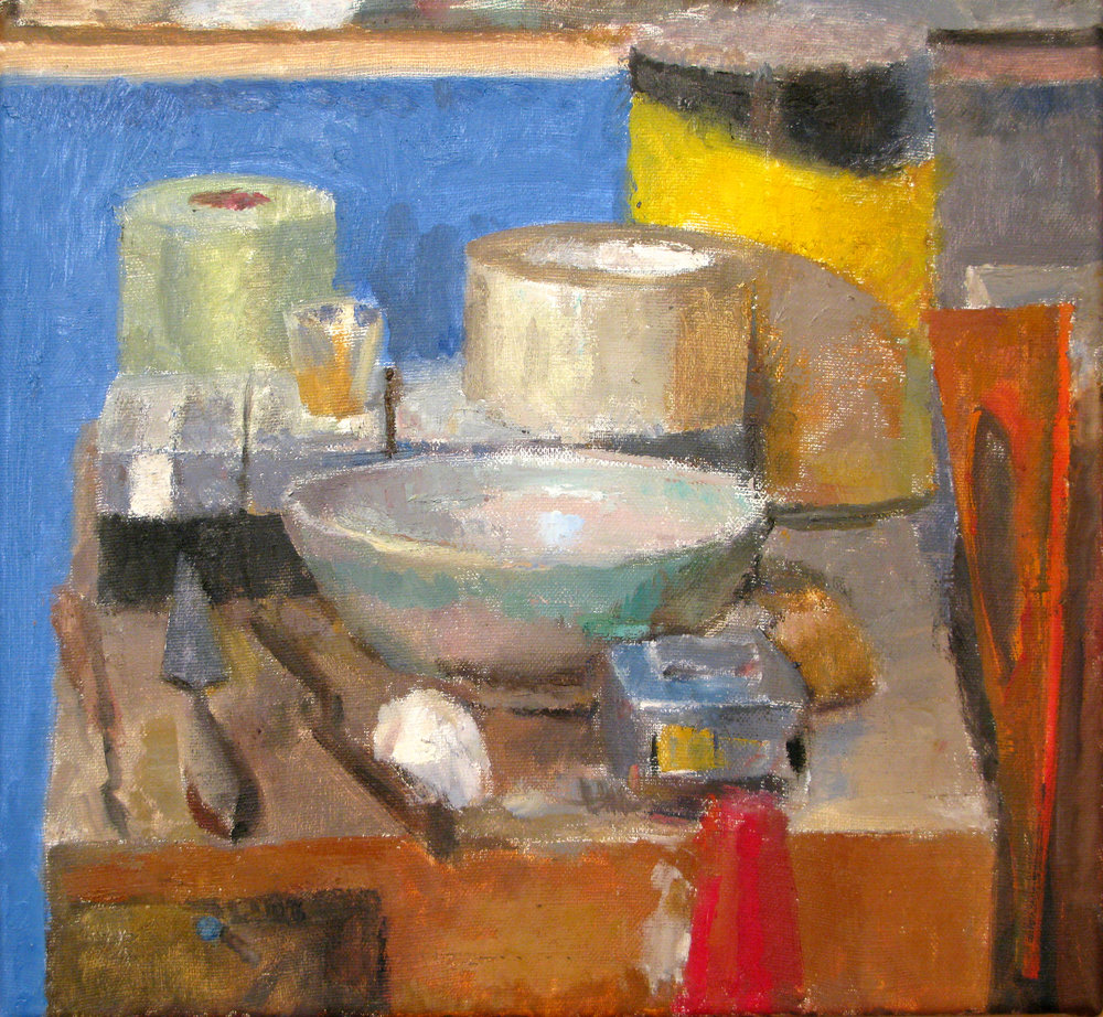 "Still Life with Japanese Bowl, 13"" x 14"", oil on linen"