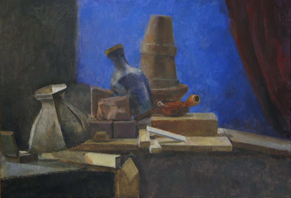 "Still Life with Chinese Vase, 24"" x 36"", oil on linen"