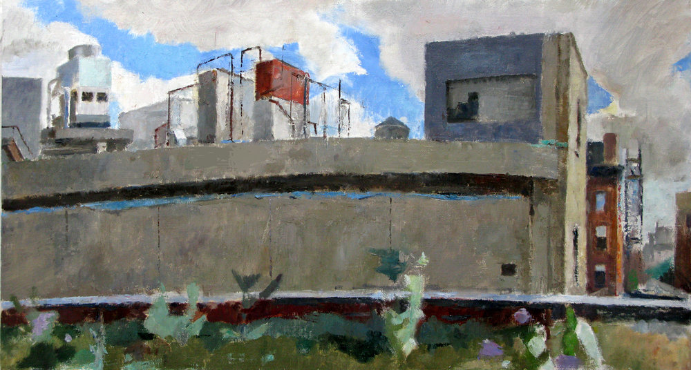 "Rear of 860 Washington Street, 16"" x 30"", oil on linen"