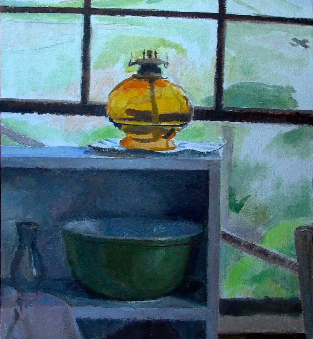 Dune Shack Oil Lamp, 24 x 18 inches, oil on muslin
