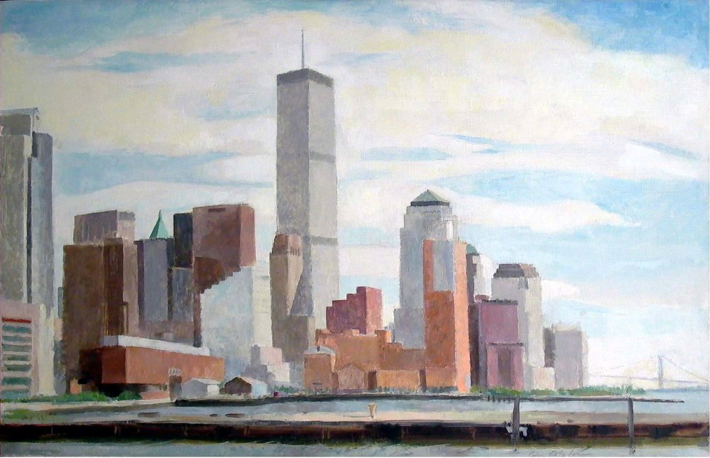 Lower Manhattan, 22 x 30, oil on linen