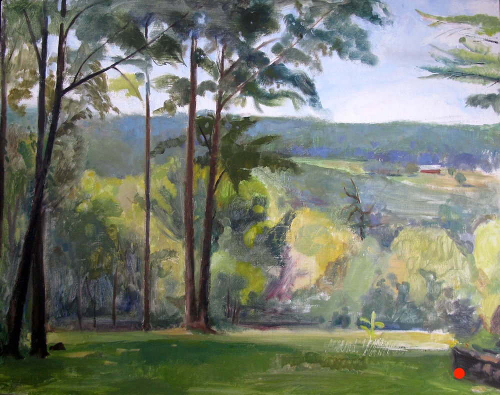 "Lower Yard, Tyringham, 24"" x 30"", oil on linen"