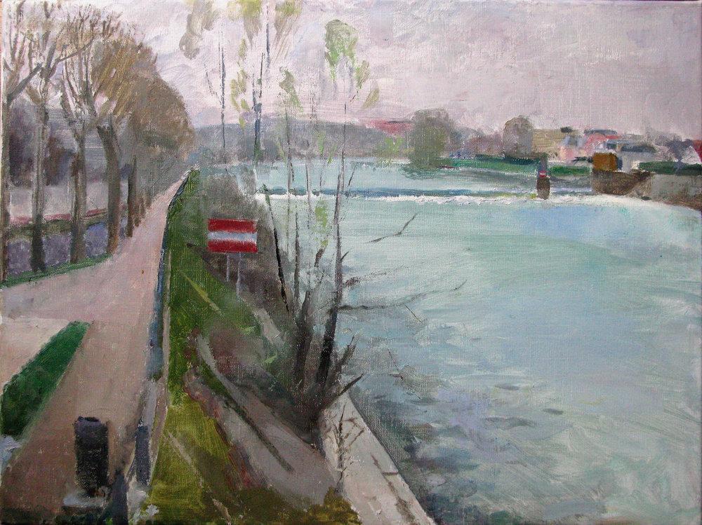 """Joinville le Pont sur Marne, 18"""" x 24"""", oil on linen"""