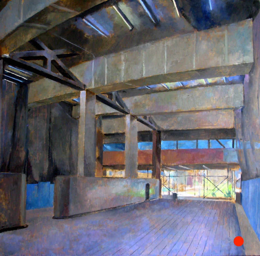 Highline Interior, 450 W 14th Street, 60 x 60 inches, oil on linen