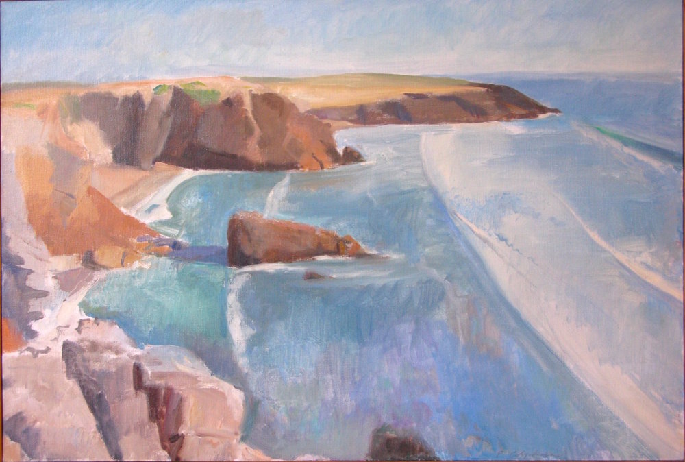 Cote Sauvage, Port Rhu, 26 x 38 inches, oil on linen