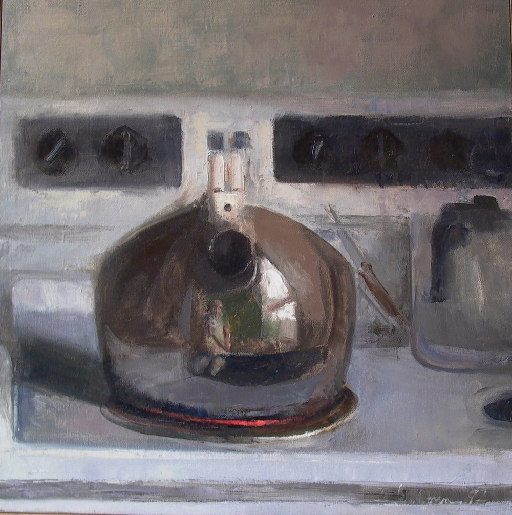 Kettle, oil on linen, 18 x 18 inches