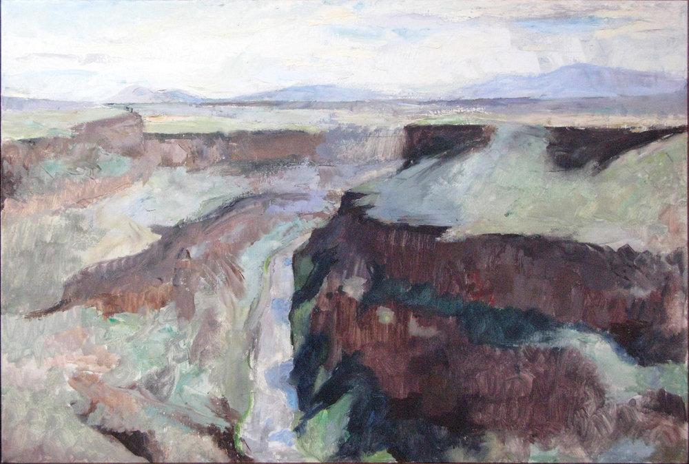 Rio Grand Gorge, NM, 24 x 36 inches, oil on linen