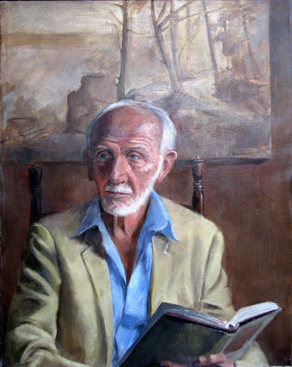 John Hatch, Former Director of the Isabella Stewart Gardner Museum, 30 x 24 inches, oil on linen
