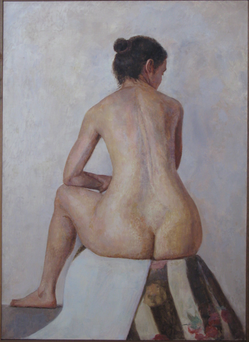 Seated Nude, 50 x 36 inches, oil on linen