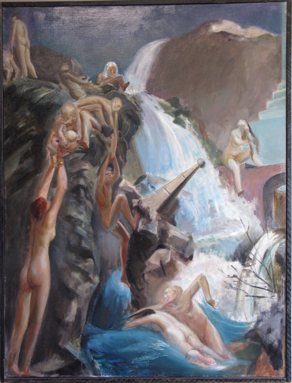 Bathers of Saturnia, 40 x 30 inches, oil on linen
