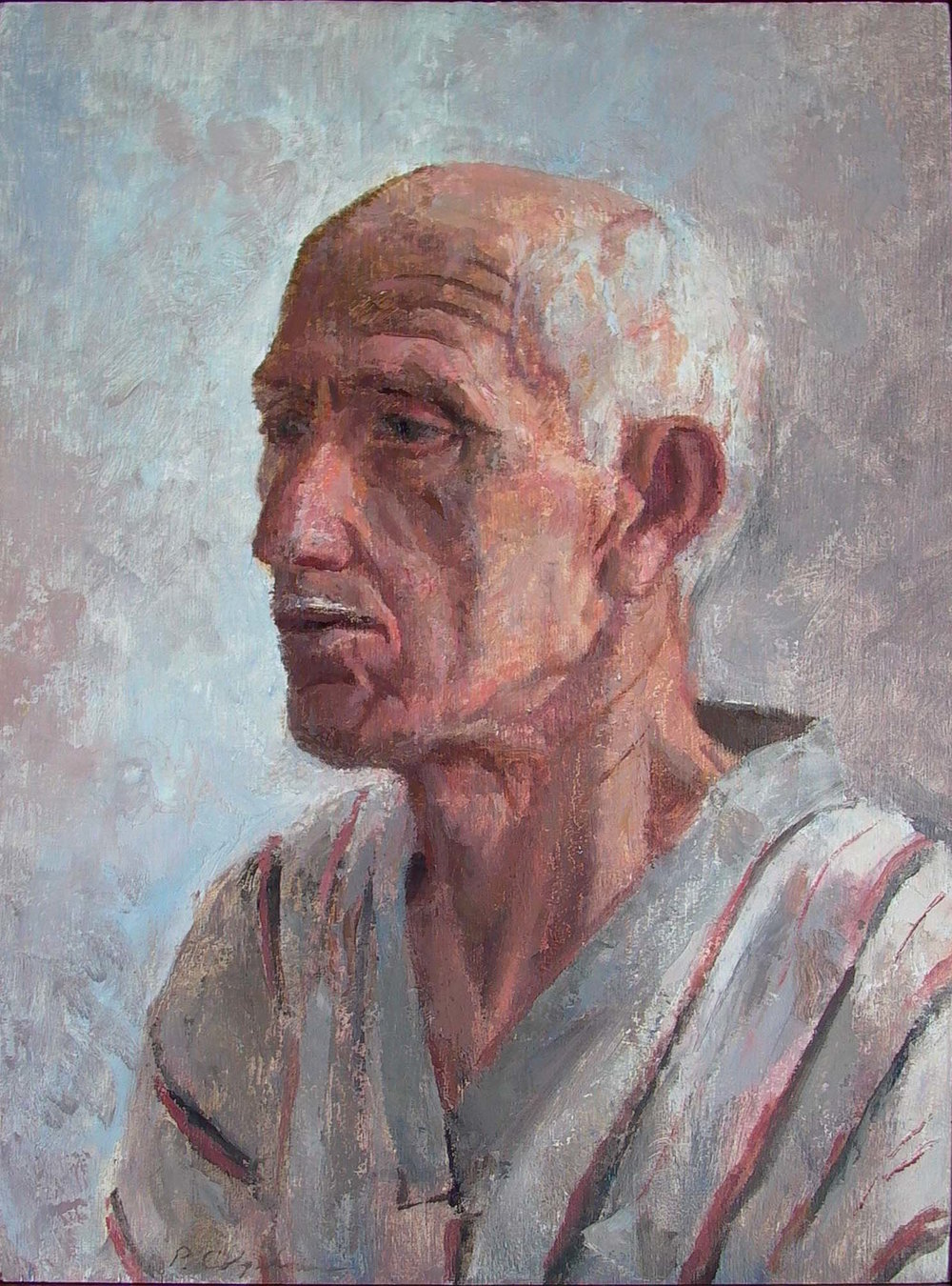 Portrait of a Man, 18 x 12 inches, oil on wood.