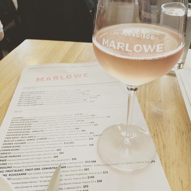 Our 2017 rosé is now available by the glass @marlowesf pairs epically with the fried chicken sandwich. 🙌