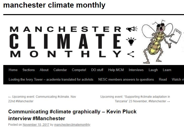 Communicating #climate graphically— Kevin Pluck interview -  MANCHESTER CLIMATE MONTHLY, Nov. 10, 2017Interview with Kevin
