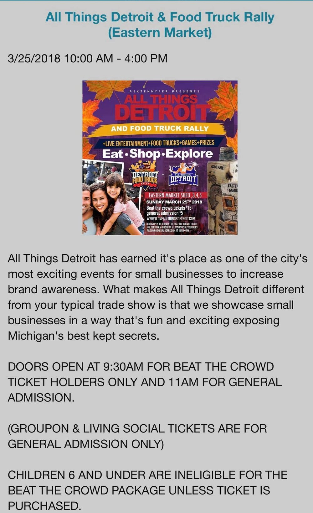 Eastern Market Corporation   2934 Russell St, Detroit, Michigan 48207