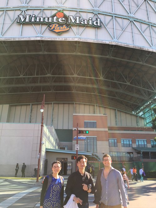 Outside Minute Maid Park for the Astros Game in April 2018