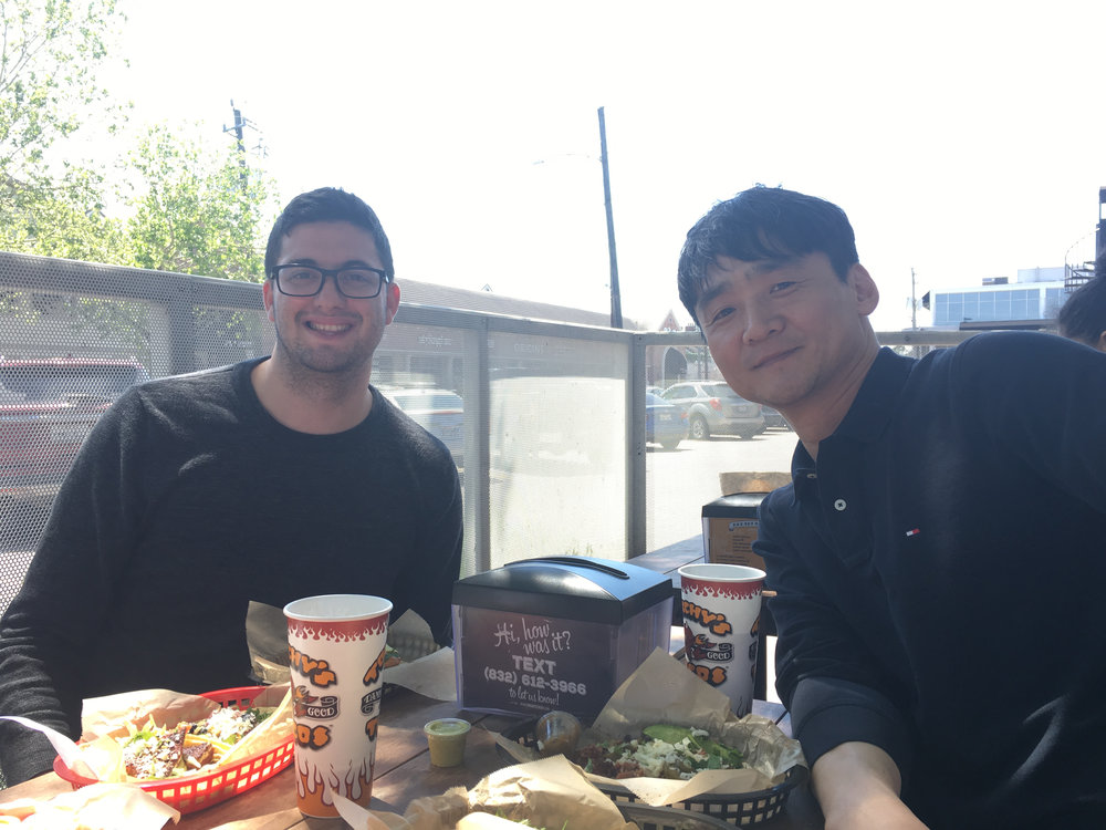 Lunch at Torchy's Tacos in March 2018