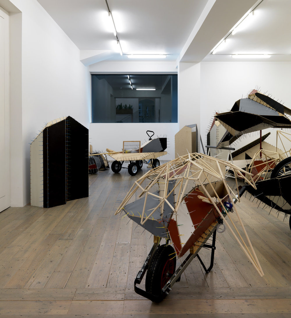 Initial phase of exhibition, as installed at Raven Row, London, 2009