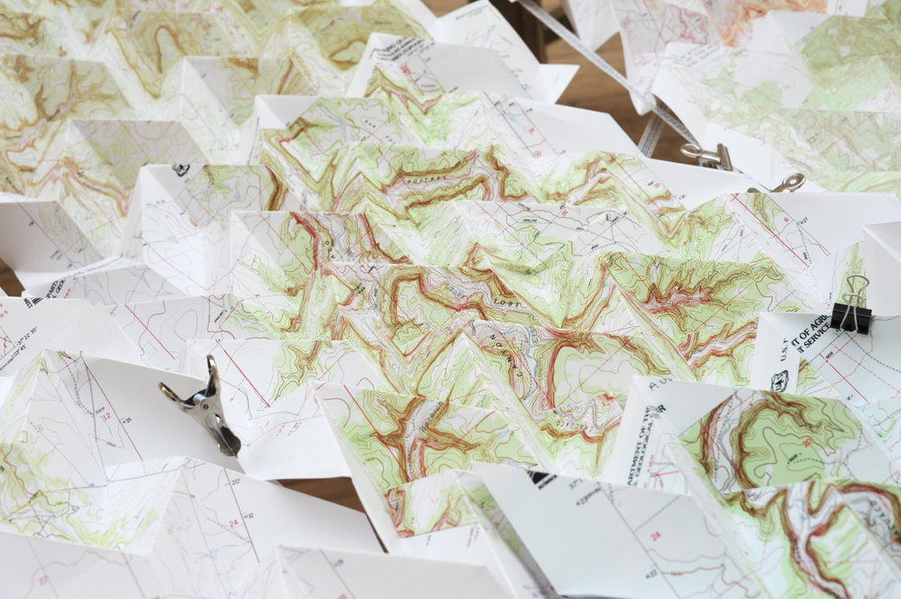 Picketwire Canyon Model #2 (Morgan, Raoul, Ben, Anna and Stefan's 4-fold pattern), 2013