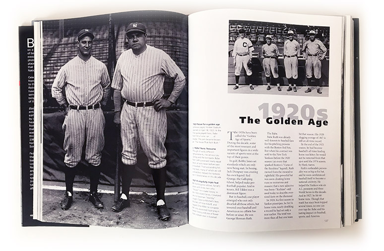 baseball. - America's favorite pasttime, from the beginning of time to present, which was 2003 at the time of design and development .