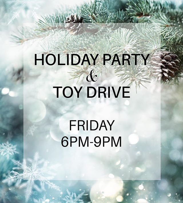 Join us tonight !!! 6-9PM for our Holiday party + foster care toy drive during the Christmas tree light ceremony. Everyone is welcome. Can't wait to see everyone there! 🎄A link to the event page is in our bio above. ❄️