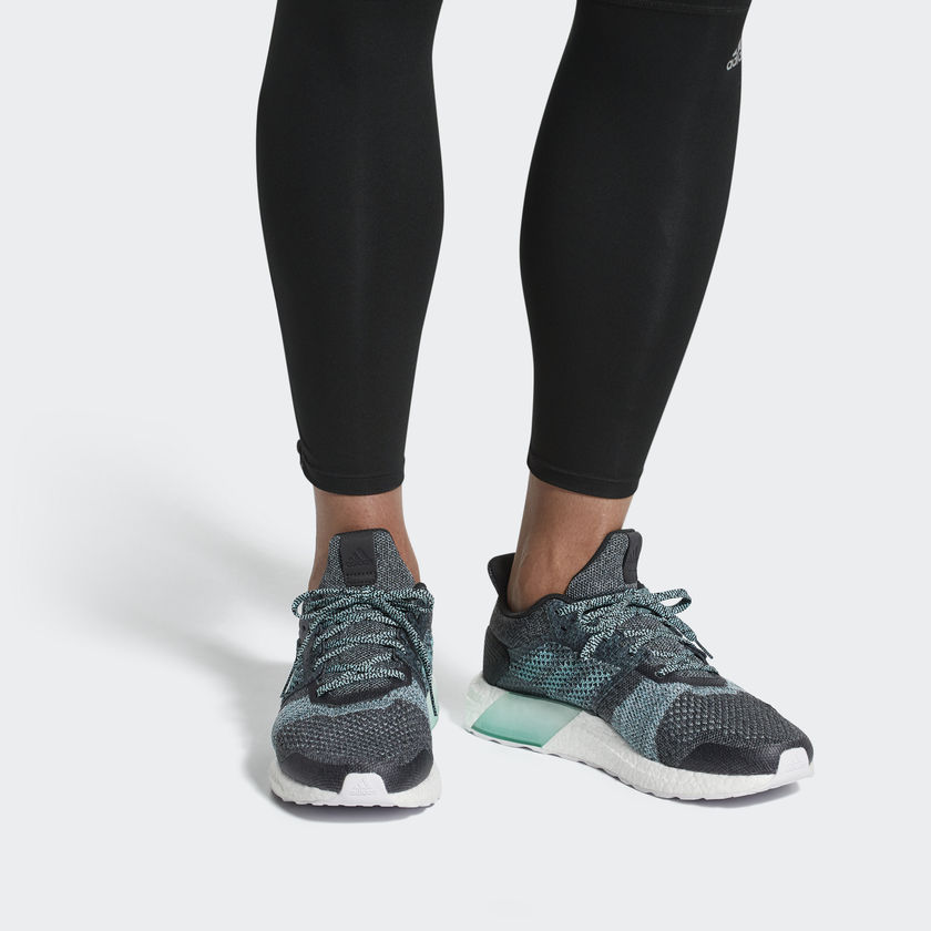 ULTRABOOST ST PARLEY SHOES  These stability running shoes combine performance technology and comfort for that best-ever run feeling. Made with recycled plastic that's intercepted from beaches before it reaches the ocean, the shoes feature responsive, dual-density cushioning for added stability. The knit upper is light and breathable, with extra support at the midfoot. Runner type Stability shoes for the ultimate running experience Energized cushioning Dual-density Boost cushioning on the medial side provides energized stability for a smooth, responsive ride Lightweight comfort adidas Primeknit upper wraps the foot in adaptive support and ultralight comfort Natural movement Fitcounter molded heel counter provides a natural fit that allows optimal movement of the Achilles Reliable traction Stretchweb outsole flexes naturally for an Energized ride, while Continental™ Rubber gives you superior traction Good for the oceans This product is created with yarn made in collaboration with Parley for the Oceans: Some of the yarn features Parley Ocean Plastic™ which is made from recycled waste, intercepted from beaches and coastal communities before it reaches the ocean