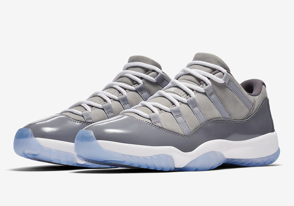 AVAILABLE 4/28 AT 10:00 AM EDT  First released in 1995, the Air Jordan XI turned heads immediately. Its patent-leather design started as an unconventional idea and quickly became an undeniable classic – a status it's held for over 20 years. Originally released as a Player Edition golf shoe for MJ, this low-top version in Cool Grey is set to make its public debut.