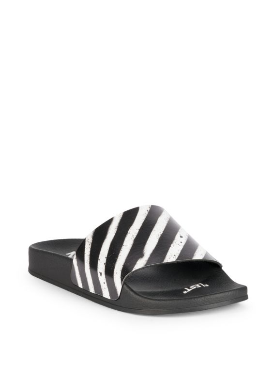 Off-White Spray Stripes Slides deadlaced