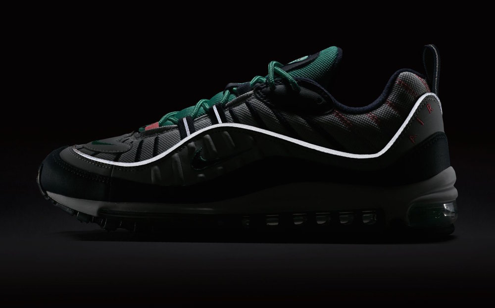 """Sergio Lozano is a guy that many sneakerheads might not be too familiar with even though he designed classic silhouettes like the Air Max 95 and yes, the Air Max 98. While many Nike models before the 98`s tried to use new Air bubble technologies, the Air Max 98 recycled the full-length Air unit by the Nike Air Max 97 as well as other features by the popular sneaker model from the year before.   SAVE 10% with CODE sneakers   This Nike Air Max 98 """"South Beach"""" somehow builds a bridge between the classic Miami colorways and the approaching Easter-themed sneakers. Well, as its almost Easter and this shoe comes out around Easter it is fair to say that this could be seen as a mash-up."""