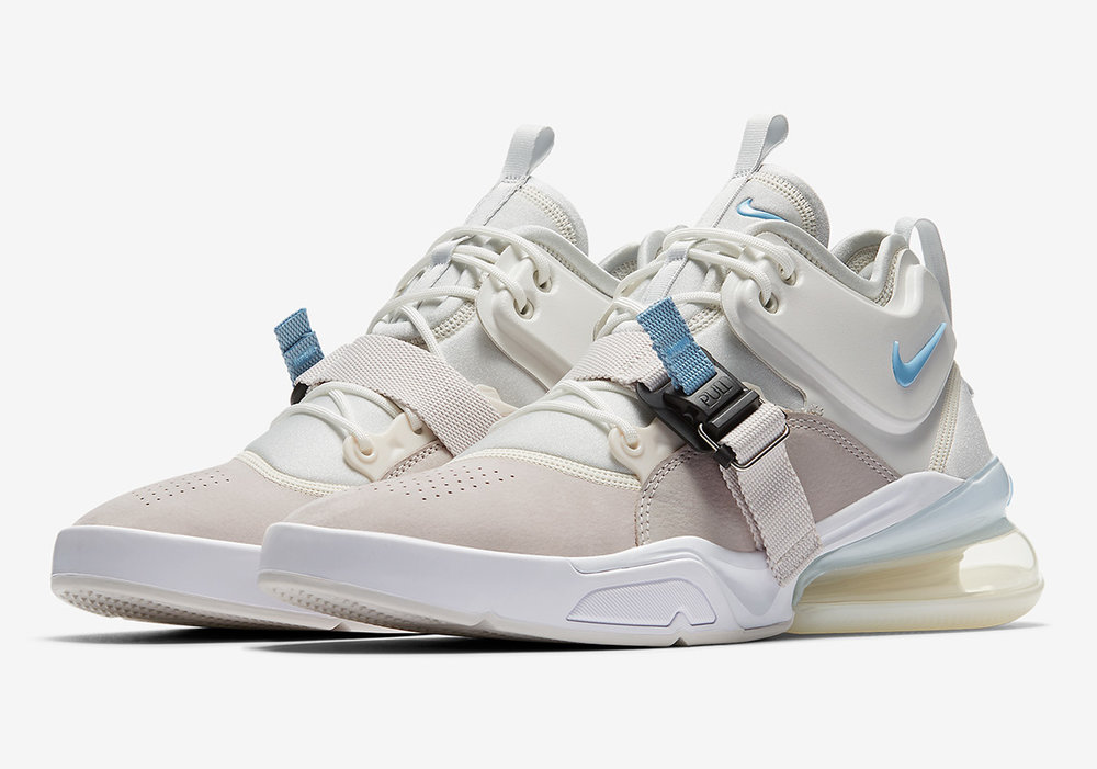 The Air Force 270 reimagines full-court style featuring Nike's tallest heel bag for maximum cushioning and a super smooth ride. This heir to big Air offers an off-court utility look locked in by a magnetic strap. The AF 270 pays respect to the players who impose their will on anything that gets between them and the rim.