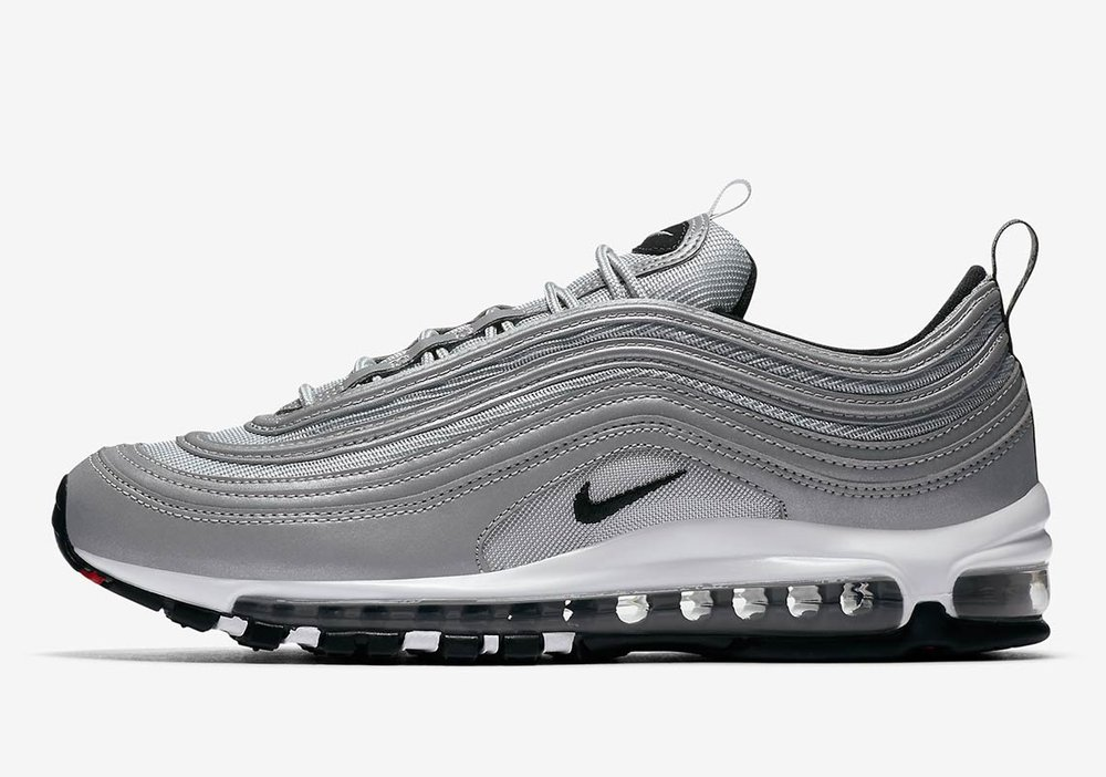 The Nike Air Max 97 Premium Men's Shoe features a sleek combination upper and classic cushioning for lasting comfort