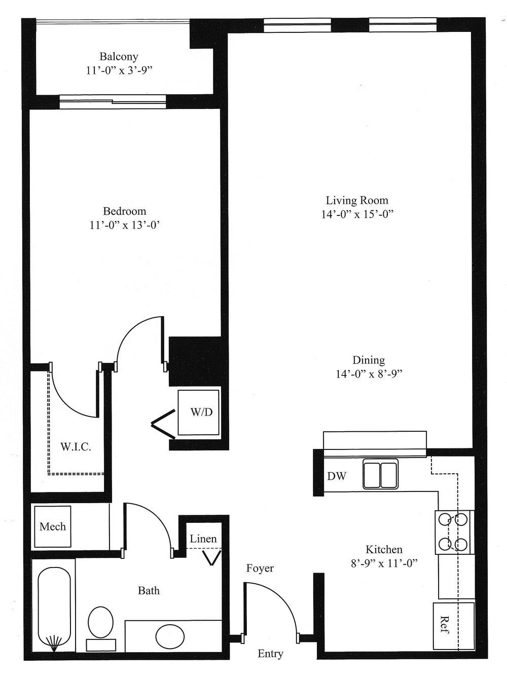 Carnation Floor Plan 1