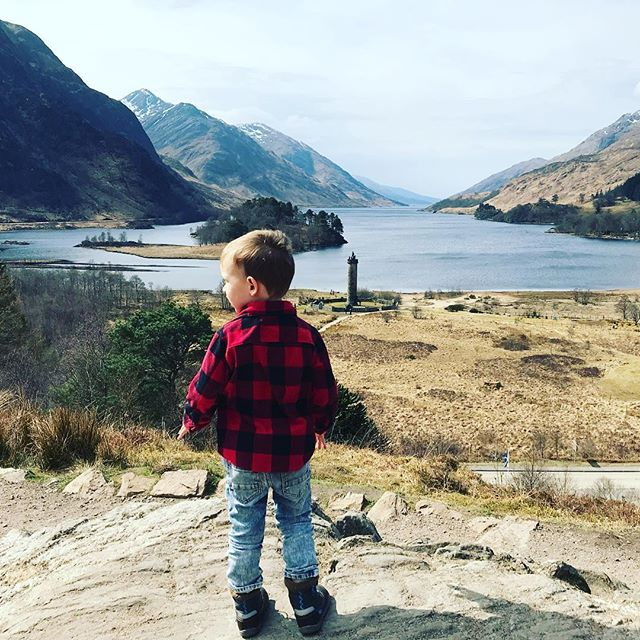 Throwback to April when we were in Scotland. My kid's a hipster and doesn't even know it yet. There's nothing more inspiring to me as a designer than a world adventure. #imagraphicdesigner #designguru #graphicdesigner #entrepreneurlife #kidstravel #scotland #travelscotland #seescotland #highlands