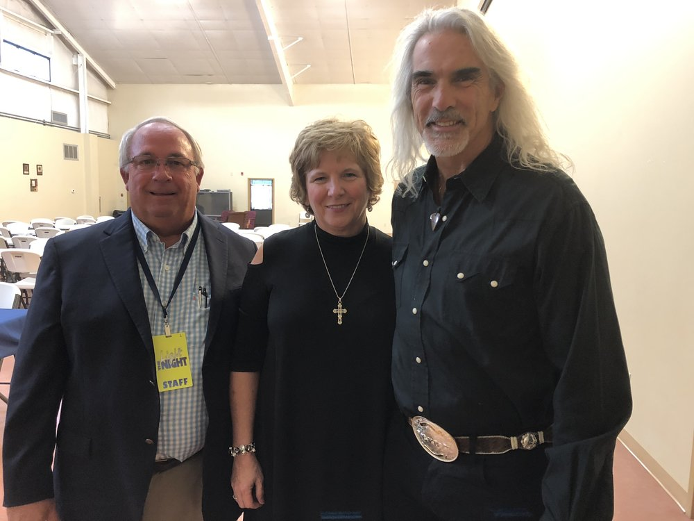 Light The Night founders, Denny and Cathy Hardee meeting with Guy Penrod prior to Prime 2018!