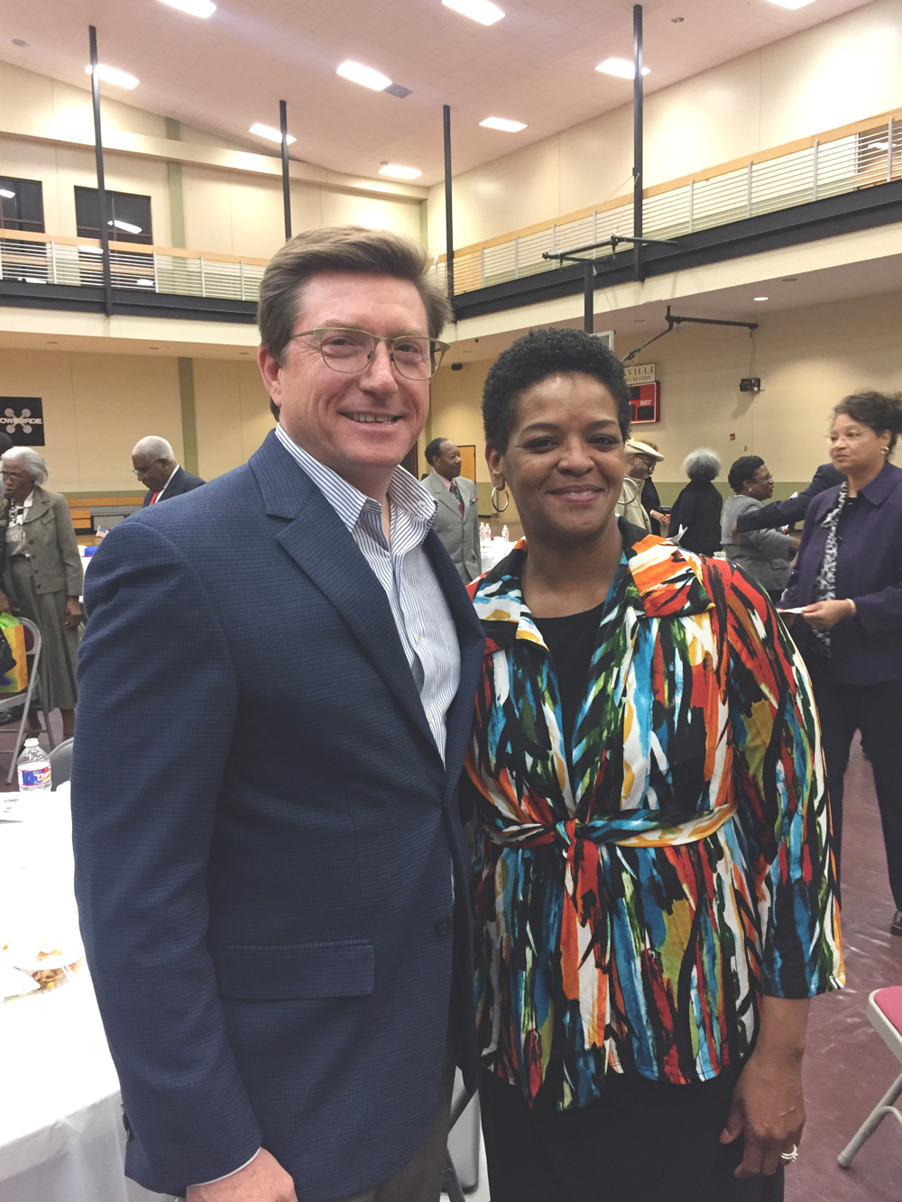 David Baria with Senator Angela Turner Ford