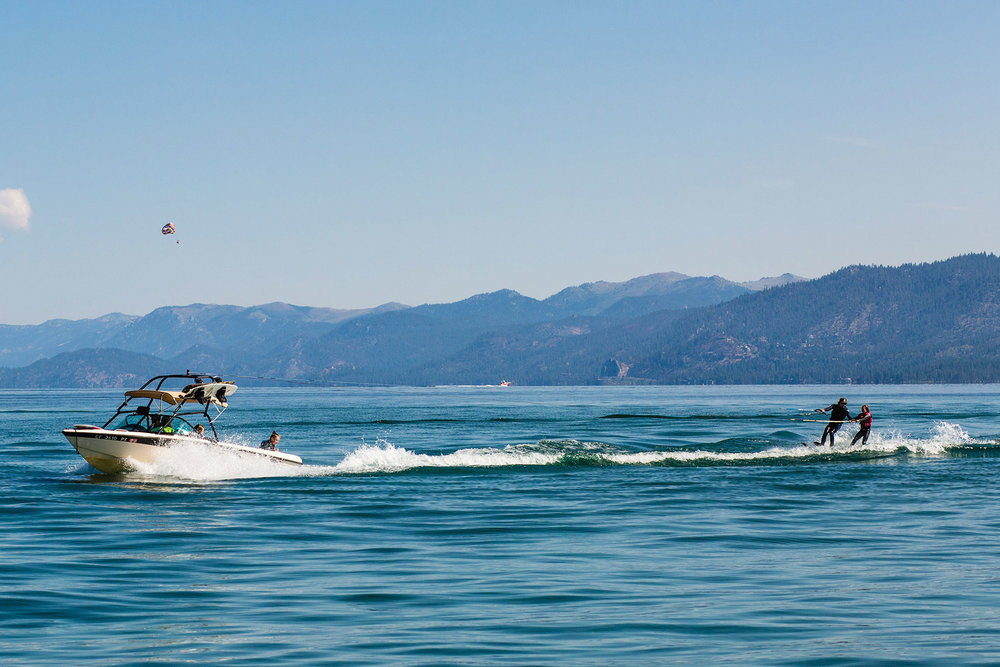Water-ski lesson Lake Tahoe