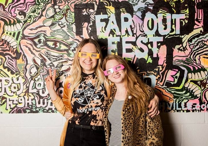 Far Out Fest Fierce Female Duo - Kari (left) and Brianne (right) joined forces to revive the psychedelic art and music scene in Nashville while simultaneously hustling their own projects