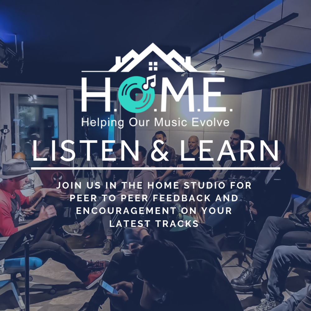 HOME LISTEN & LEARN   Join us in the HOME Studio at the beginning of each month to share your latest projects. All participants should be ready to receive and give constructive feedback & encouragement.  These session are limited to 20 Members. RSVP's open 1 week prior to each session.