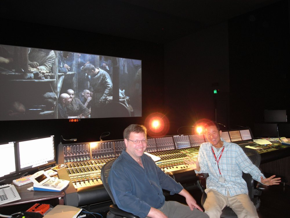 At the mix with re-recording mixer Ron Bartlett